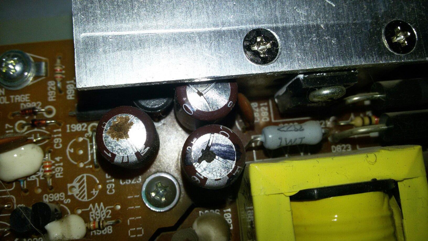 Вздутые конденсаторы на материнской плате ПК, замена конденсаторов